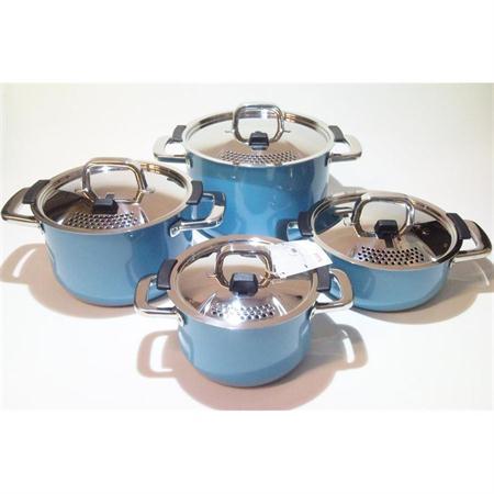 silit mountain blue topfset 4 tlg silargan induktion blau kochtopfset ebay. Black Bedroom Furniture Sets. Home Design Ideas