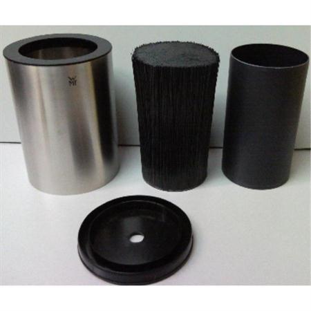 wmf messerblock schwarz edelstahl rund b rsteinsatz borsteneinsatz ebay. Black Bedroom Furniture Sets. Home Design Ideas