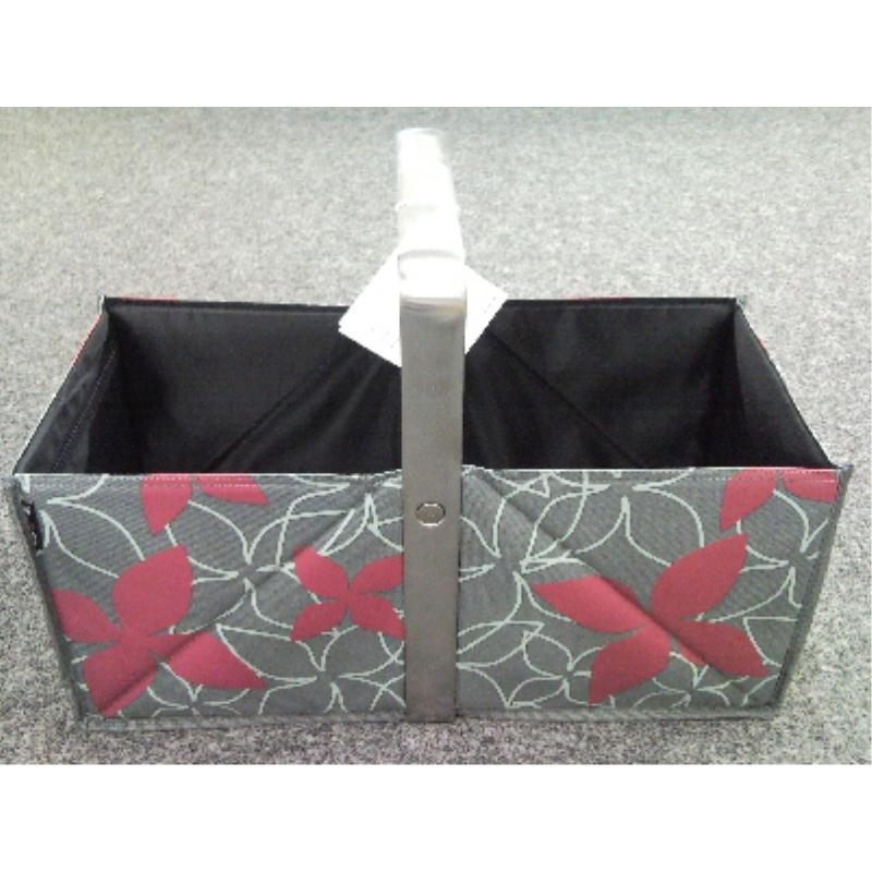 wmf pickup einkaufskorb korb lounge flower red rot edelstahl faltkorb m cover ebay. Black Bedroom Furniture Sets. Home Design Ideas