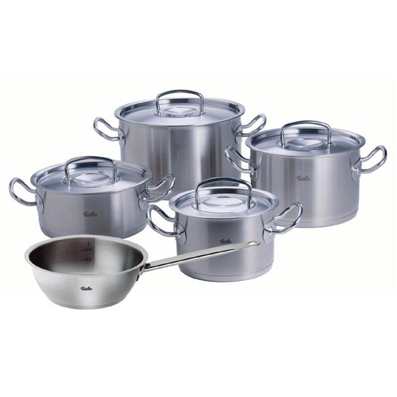 fissler casseroles profi collection 5 pi ces avec m tal couvercle et sauteuse lot de casserole. Black Bedroom Furniture Sets. Home Design Ideas