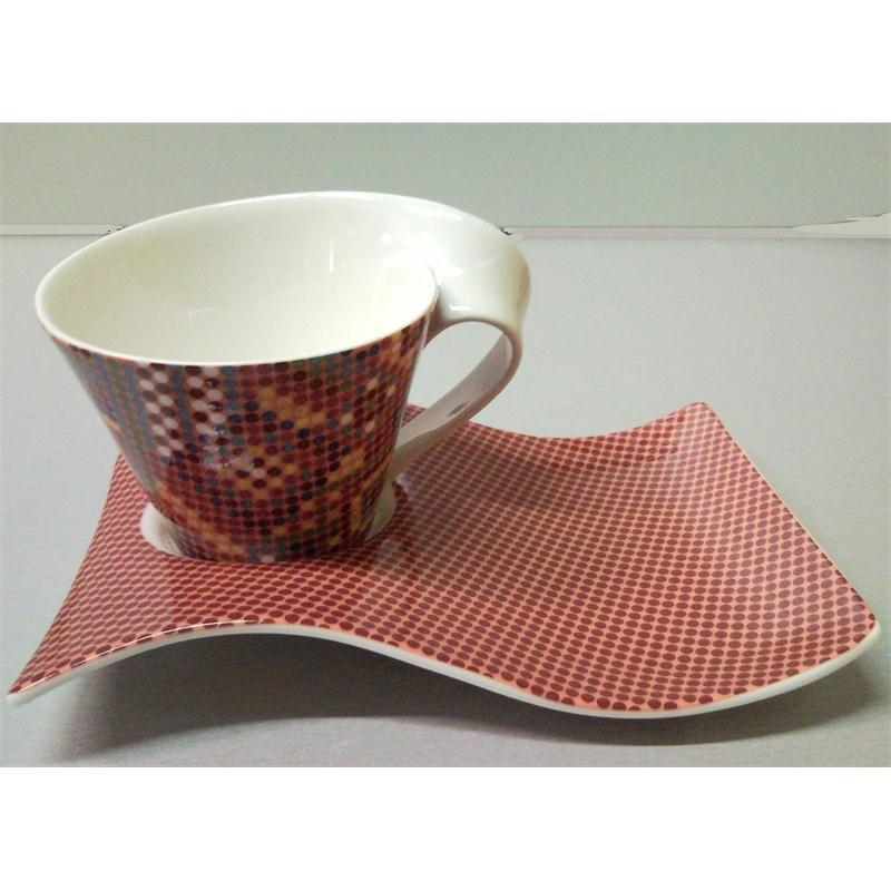 v b new wave caffe bahia 1 cafe au lait 0 4 lt m partyplatte 2t villeroy boch ebay. Black Bedroom Furniture Sets. Home Design Ideas