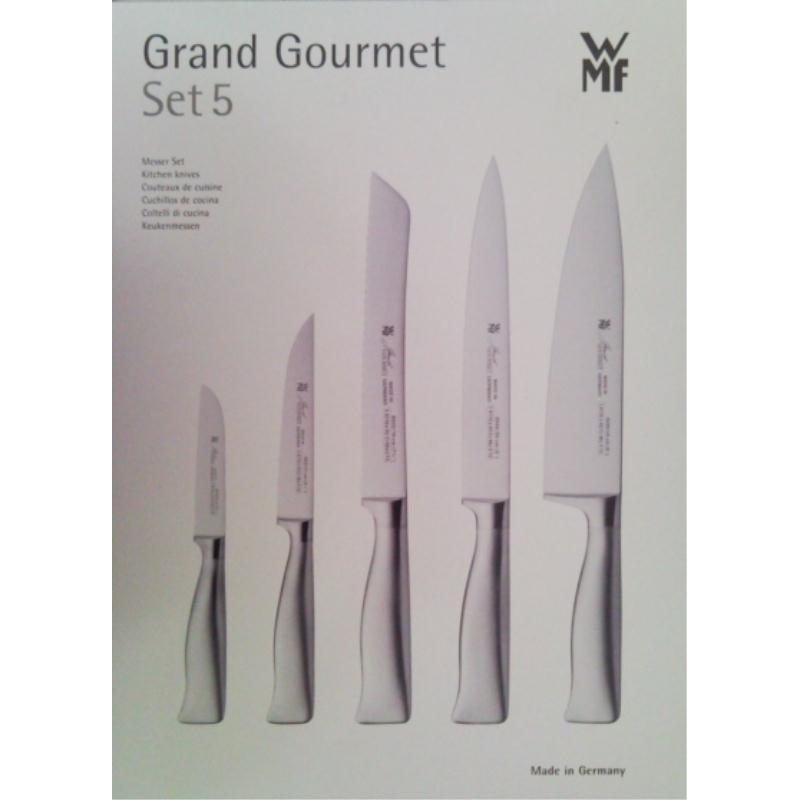 wmf grand gourmet messerset 5 tlg neu designed edelstahlgriff geschenkkarton. Black Bedroom Furniture Sets. Home Design Ideas