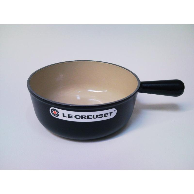 le creuset kasserolle caquelon 22cm schwarz gusseisen induktion ebay. Black Bedroom Furniture Sets. Home Design Ideas