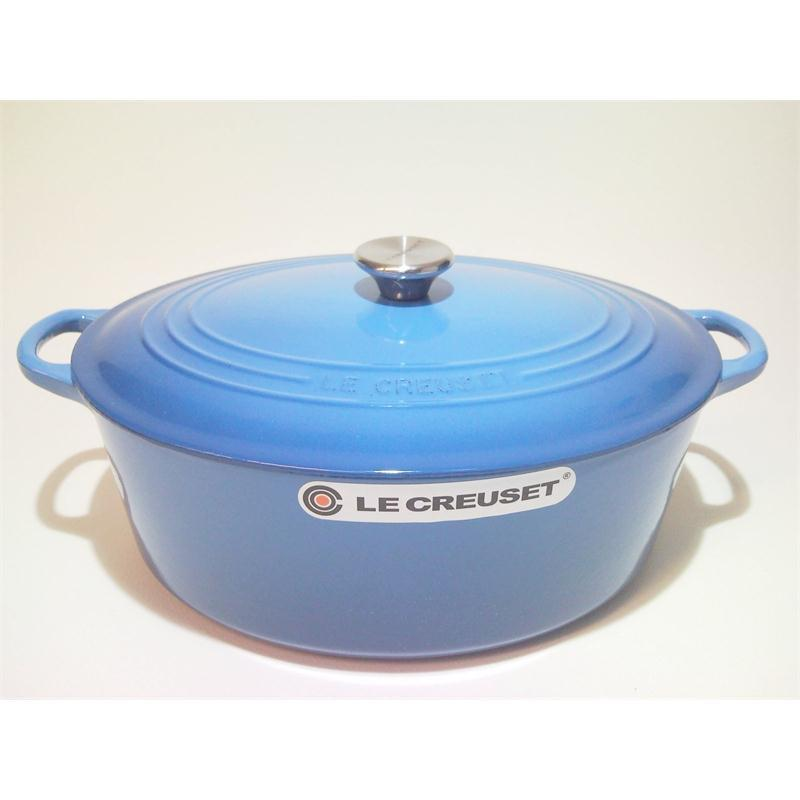 le creuset br ter oval 31 cm marseille blau gusseisen induktion bratentopf ebay. Black Bedroom Furniture Sets. Home Design Ideas