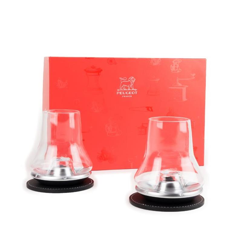 PEUGEOT whisky Duo Set in scatola regalo 2 probiersets per whisky con degustazione