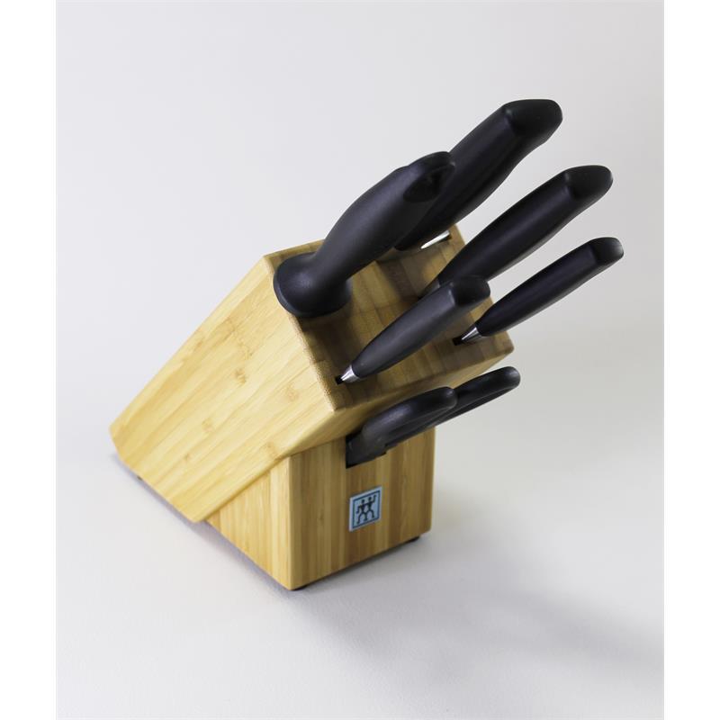 zwilling vier sterne messerblock 7 tlg bambus 35068 002 mit schere eur 127 81 picclick de. Black Bedroom Furniture Sets. Home Design Ideas