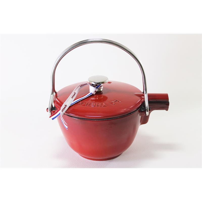 Staub Teekessel rund kirschrot 16,5cm Teekanne Tee Kessel ...