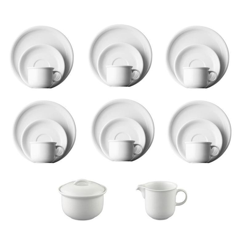 thomas trend weiss kaffeeset 20 tlg kaffeeservice 6 pers. Black Bedroom Furniture Sets. Home Design Ideas
