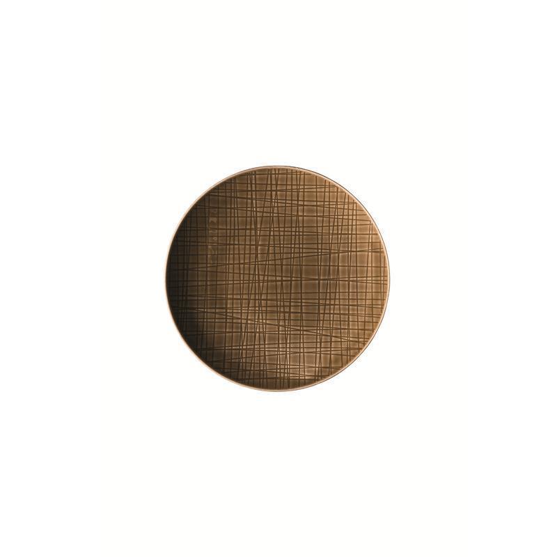 Rosenthal-Mesh-Walnut-Teller-flach-17-cm-braun-Brotteller