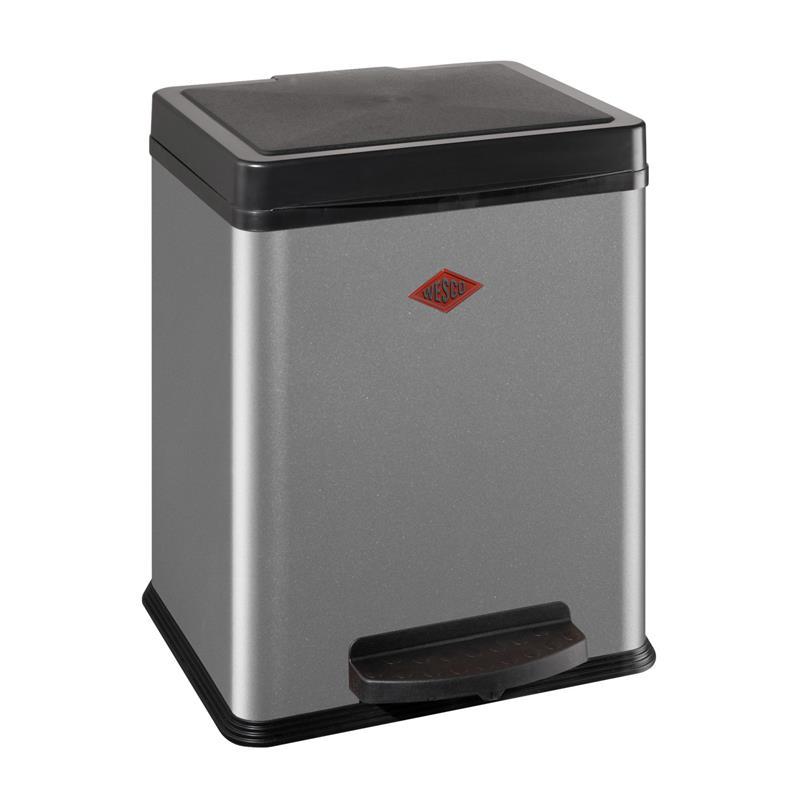 wesco kosammler 380 silber 2x10 liter treteimer. Black Bedroom Furniture Sets. Home Design Ideas