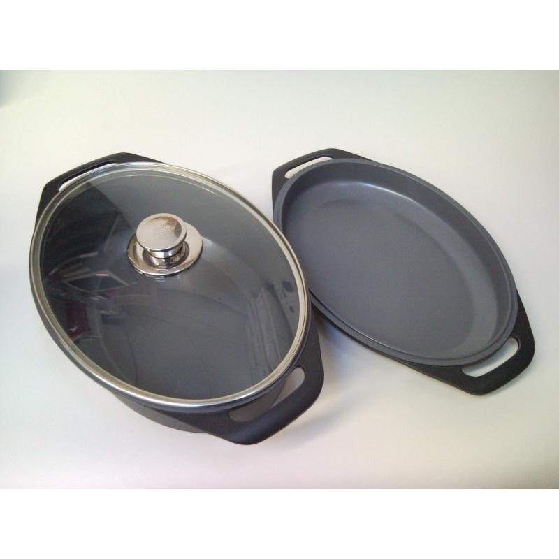 schulte ufer br ter set trias 3 t 38 cm glasdeckel pfanne oval induktion tria ebay. Black Bedroom Furniture Sets. Home Design Ideas