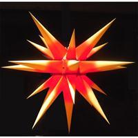 Herrnhuter Innenstern i6 Stern Papier gelb rot 60 cm für INNEN Papierstern Weihnachtsstern