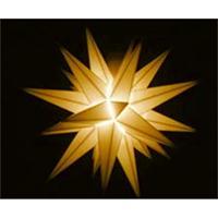 Herrnhuter A1 S Sternkette gelb mit Trafo