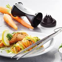 Gefu Spirelli Spiralschneider mit Reinigungsbürste Rezeptbuch + Küchenpinzette Soco