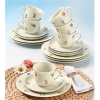 Seltmann Marie Luise Elfenbein Streublume Kaffeeservice 18 teilig Blütenmeer