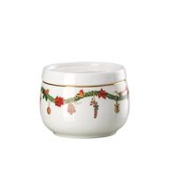 Hutschenreuther Nora Christmas Zuckerdose 0,15 Liter mit Deckel rund Porzellan spülmaschinengeeignet