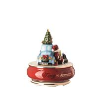 Hutschenreuther Spieluhr groß Morgen kommt der Weihnachtsmann Porzellan