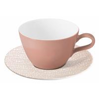 Seltmann Life Fashion posh rose Milchkaffeetasse mit Untertasse 2 teilig