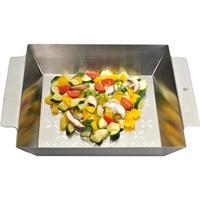 WMF Grill- Gemüsekorb Edelstahl 35,5 x 29,5 Grillkorb Edelstahl Gemüse Korb