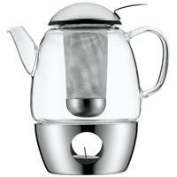 WMF SmarTea Tee-Set Glas Teekanne mit Edelstahl Stövchen