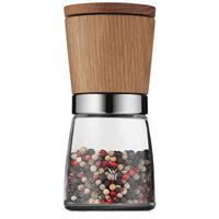 WMF Nature Gewürzmühle Eichenholz Glas 13,8 cm Pfeffermühle Salzmühle Ceramill