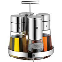 WMF Ceramill de Luxe Menage Essig Öl Gewürzmühlen NEU Edelstahl Glas schick