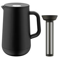 WMF Impulse Isolierkanne 1 Liter schwarz mit Teesieb
