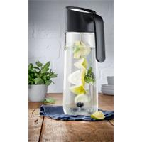 WMF Nuro Wasserkaraffe mit Griff und Fruchtspieß Schwarz 1 Liter