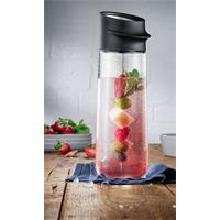 WMF Nuro Wasserkaraffe mit Fruchtspieß Schwarz 1 Liter