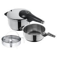 WMF Schnellkochtopf Set Perfect Premium 4,5 und 3 Liter mit Einsatz