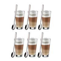 WMF Latte Macchiato Set 12 tlg.6 Gläser 6 Löffel Macchiatogläser