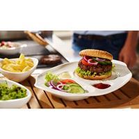 V&B BBQ Passion Burgerteller 2-teilig 36 x 25 cm mit Mulden Villeroy&Boch