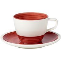 V&B Manufacture Rouge Kaffeetasse mit Untertasse 2 tlg.