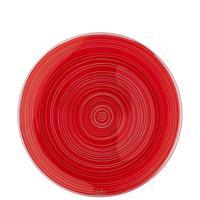 Rosenthal Studio-Line TAC Gropius Stripes 2.0 Teller 28 cm Glas rot
