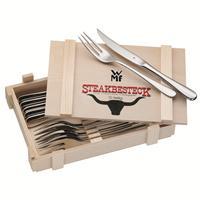 WMF Steakbesteck 12 tlg.für 6 Personen NEU, OVP poliert Holzkassette