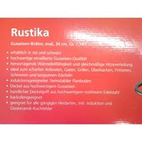Schulte-Ufer Rustika Bräter oval schwarz 34 Induktion Gusseisen emailliert