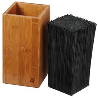 WMF Messerblock Bambus flexiblen Bürsteinsatz herausnehmbar Borsten Bambusblock