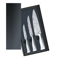 WMF Grand Gourmet Damast Messerset 3 t.Performance Cut Kochmesser Fleischmesser