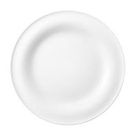 Seltmann Beat weiß Frühstücksteller rund 23cm Rillendekor Teller flach