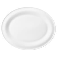 Seltmann Beat weiß Servierplatte oval 35x28cm Rillendekor Platte