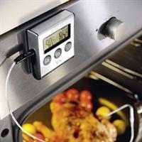 Gefu Tempere Bratenthermometer mit Timer Thermometer mit Alarm Braten Display Schutz vor Übergaren