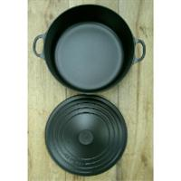Le Creuset Bräter Tradition rund 26 cm schwarz Bratentopf Gusseisen Schmortopf