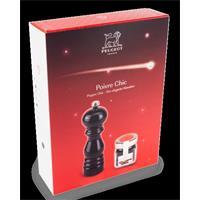 Peugeot Paris U Select Pfeffermühle18 cm schwarz lackiert mit Tan Hoi Pfeffer im Geschenkkarton