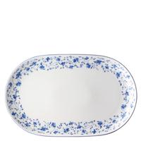 Arzberg Form 1382 Blaublüten Platte 32 x 20 cm oval Servierplatte