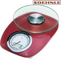 Soehnle Küchenwaage Vintage Style Red 66229 rot bis 5 kg digital & analog 1g