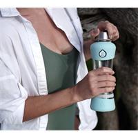 Equa Active Mint Trinkflasche aus Glas 550 ml mit Silikonboden