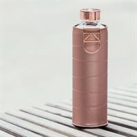 Equa Mismatch Bronze Trinkflasche aus Glas 750 ml Kunstlederhülle Metallgriff