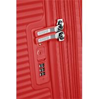 American Tourister Soundbox Spinner 77/28 Coral Red erweiterbar