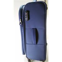 American Tourister Trainy Spinner 67/24 expandable cool blue Trolley erweiterbar blau Polyester TSA