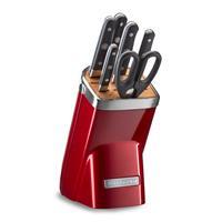 KitchenAid Messerblock 7-teilig Liebesapfel-Rot KKFMA07CA